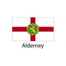 Alderney Flag sticker die-cut decals