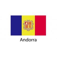 Andorra Flag sticker die-cut decals