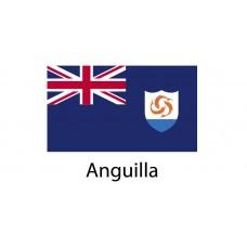 Anguilla Flag sticker die-cut decals