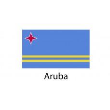 Aruba Flag sticker die-cut decals