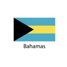 Bahamas Flag sticker die-cut decals
