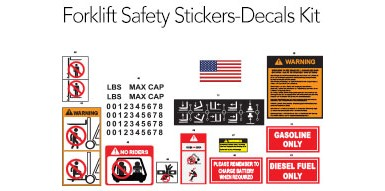 Forklift Safety Stickers Decal Kit