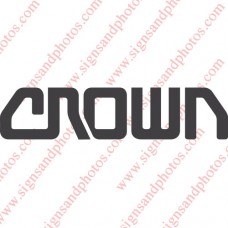 """Crown forklift Decal 11""""x2.5"""""""