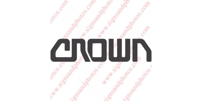 """Crown forklift Decal 7""""x2"""""""