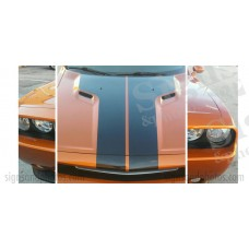 Dodge Challenger Hood T-Stripes Factory Style 2011 2012 2013