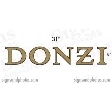 "DONZI Hulls side Logo Decal  6"" H"