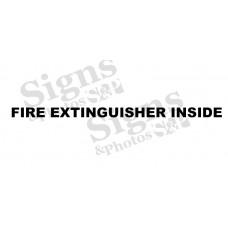 Fire extinguisher inside for trucks