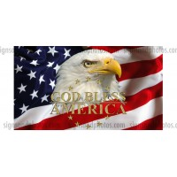 God Bless America Full Color Decal