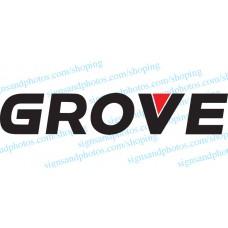 """Grove Crane  Vinyl Decal Emblem Logo 27"""" x 5"""""""