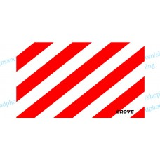 "Grove Crane  Vinyl White-Red Striped 36"" x21"""
