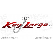 Key Largo Boat Name Decals
