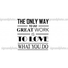"Wall Decals ""The only way"""