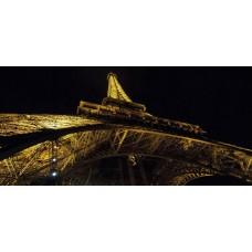 "Wall Glass Art Eiffel Tower 16"" x20"""