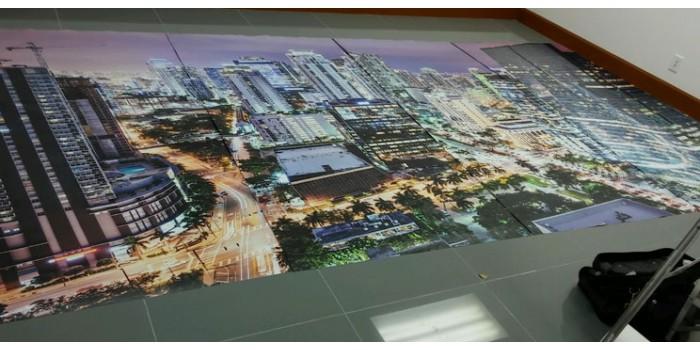 Wall Wraps 8' x 12' miami florida downtown nightt aerial