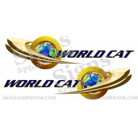 World Cat Logo Decals